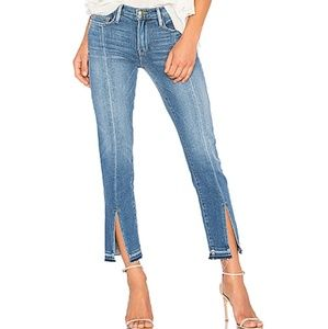 Frame Le Nouveau Straight split raw hem jean